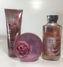BATH AND BODY WORKS Warm Vanilla Sugar Shower Gel, Body Cream & Body Butter