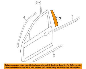FORD OEM Front Door-Applique Window Trim Left 6E5Z5420555AA