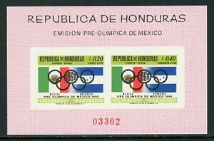 Honduras note after Scott #C435 IMPERF MNH S/S OLYMPICS 1968 Mexico City CV$16+