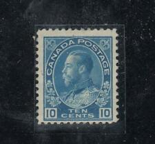 CANADA  # 117  F-MH  10cts   1922 KING GEORGE V ADMIRAL /BLUE  CAT VALUE $30