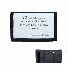 Porte-monnaie scratch portefeuille Elias Chier dans une fiole citation Kaamelott