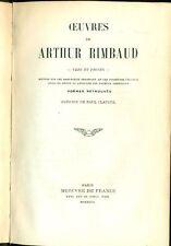 RIMBAUD Arthur (Charleville 1854 - Marsiglia 1891), Oeuvres. Vers et proses
