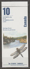 Canada BK131b 40¢ Heritage Rivers Complete Booklet MNH