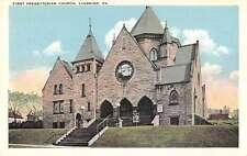 Ligonier Pennsylvania view of First Presbyterian Church antique pc Z16839