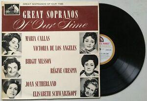 CALLAS/NILSSON/CRESPIN Great Sopranos of Our Time HMV ASDM 558 (ASD 558 EQ) EXC