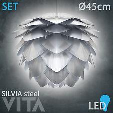 Vita Silvia Steel LED SET Stahl Pendelleuchte weißes Kabelset +LED +BOX