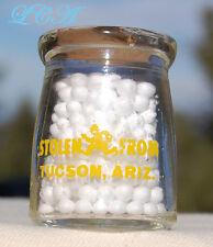 Miniature MILK BOTTLE Creamer w/pic POLICE MAN Stolen from TUCSON ARIZONA