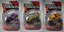 Transformers Movie 2007 Arcee, BoneCrusher & Bumblebee New Seal