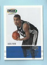 TONY PARKER 2001/02 UPPER DECK PLAY MAKERS RC JERSEY # 009/999 SPURS
