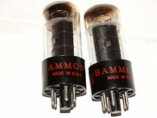 2 x 6V6gt G.E. - Hammond Tubes *Black Plates*Copper Posts* Matched Tested*