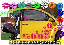 40 HOT PINK Daisy Flower CAR golf cart Boat fuchsia rose magenta  girl gift  USA