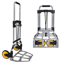 264 Lb Portable Folding Hand Truck Dolly Aluminum Moving Cart Luggage Heavy Duty