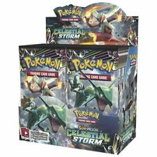 POKEMON TCG Sun & Moon Celestial Storm Booster Box - includes 36 Booster Packs