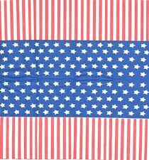3 Mouchoirs en papier Style drapeau américain Decoupage Paper Hankies serviette