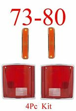 73 80 4Pc Chevy Front & Tail Light, Side Light GMC Truck, Blazer Suburban Jimmy