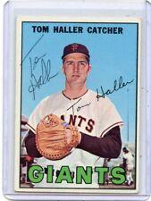 1967 TOPPS BASEBALL #65 TOM HALLER AUTOGRAPH, SAN FRANCISCO GIANTS 062318
