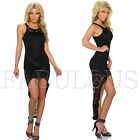 New Sexy High Low Lace Mini Dress Party Evening Formal Cocktail Size 6 8 XS S
