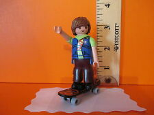 Playmobil SERIES 2 SKATEBOARDER W/ 2 FACES new figure + orig package PM #5157