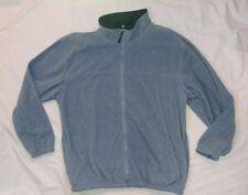 STARTING POINT Mens ZIP FRONT fleece jacket sz XXL 2XLarge light blue soft EUC