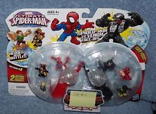 MARVEL ULTIMATE SPIDER-MAN SERIES 1 FIGHTER PODS SPIDER-MAN VS VENOM FACE OFF #1