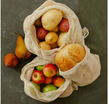 Reuseable Certified Organic Cotton Mesh Produce Packs Pack Of 6