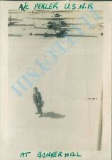 WW2  US Navy Air station Bunker Hill Indiana Officer and Planes
