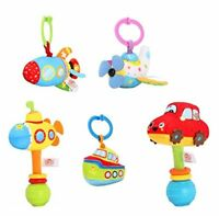 5 PCS Colourful Full of developmental Baby Soft Rattle Clip On Toy Set Car/ship