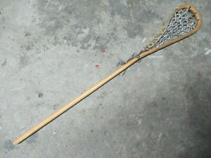 Vintage Antique Wooden Lacrosse Stick