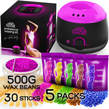 New Painless Waxing Kit with Wax Warmer for Facial Hair Removal for Women & Men