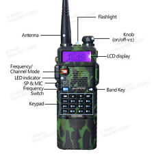 BaoFeng UV5R Walkie Talkie UV-5R UHF VHF Radio Dual Band 128CH + 3800mah Battery