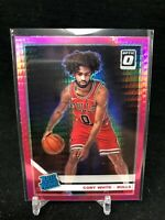 COBY WHITE 2019-20 DONRUSS OPTIC PINK HYPER PRIZM ROOKIE RC #180 BULLS E87