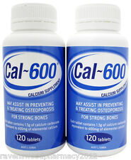 2 x Cal 600 Cal-600 (Calcium 600mg 120 tablets) :SAME AS CALTRATE: 240 Tab TOTAL
