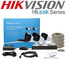 Hikvision 4MP CCTV Sistema Ip Poe 4CH NVR 4X Kit Completo 1TB Cámara Bullet al aire libre