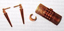 JEWELRY ~ CLUTCH LOT (CE18) BARBIE BRONZE PLASTIC EARRINGS BRACELET PURSE LOT