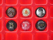 Série de plaques de muselet champagne / Berthelot,H Beaufort, Bérat D, Barbe, ..