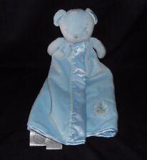 CARTER'S BABY BLUE TEDDY BEAR HEAVEN SECURITY BLANKET STUFFED ANIMAL PLUSH TOY