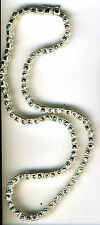 "925 Sterling Silver Marcasite Necklace / Choker  Length 17.1/2""    Over 29 grams"