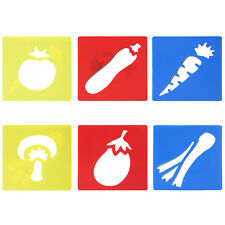 6PC Assorted Vegetable Stencils - By TRIXES