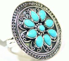 Samuel B BJC Behnam Natural Stone 925 Sterling Silver Engagement Ring Turquoise