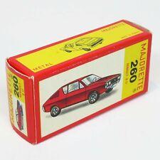 Majorette France - Original Empty Box - 260 Renault 17 - Die Cast Vintage Rare