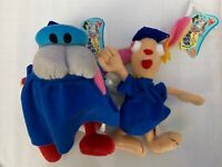 Set of 2 Ren and Stimpy Congrats Plush Toys Nickelodeon Licensed New