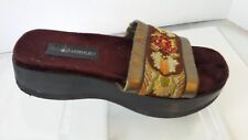 """Enzo Angiolini Women's Slip on Sandals """"Y-Serena"""" Purple Floral  Size 7M"""