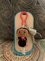 Hallmark Itty Bittys KID PRESIDENT & TIN CAN PHONE Plush Keychain NEW MOC