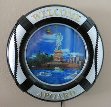 Welcome Aboard Life Ring Animated Background Nyc World Trade Towers Electric