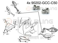 4x Honda CBR1000RR 2012-2016 stainless domed nuts part number: 90202-GCC-C50