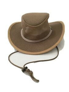 RedHead Outback Mesh Crown Wide Brim Outdoors Fishing Hat Khaki Beige Mens SZ L