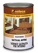 VELECA SATIVAL NITRO VERNICE SATINATA TRASPARENTE PER LEGNO LT.1