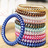 10pcs Telephone Wire Cord Head Rings Hair Band Ponytail Holder Hair Accessories