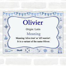 olivier Name Meaning Nautical Certificate
