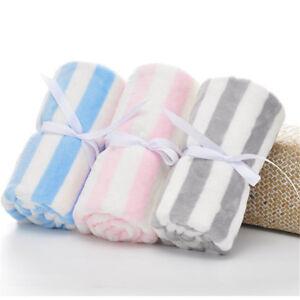 Gift Swaddling Blankets Sleeping Blankets Nursery Bedding Warm Stripe Blanket KY